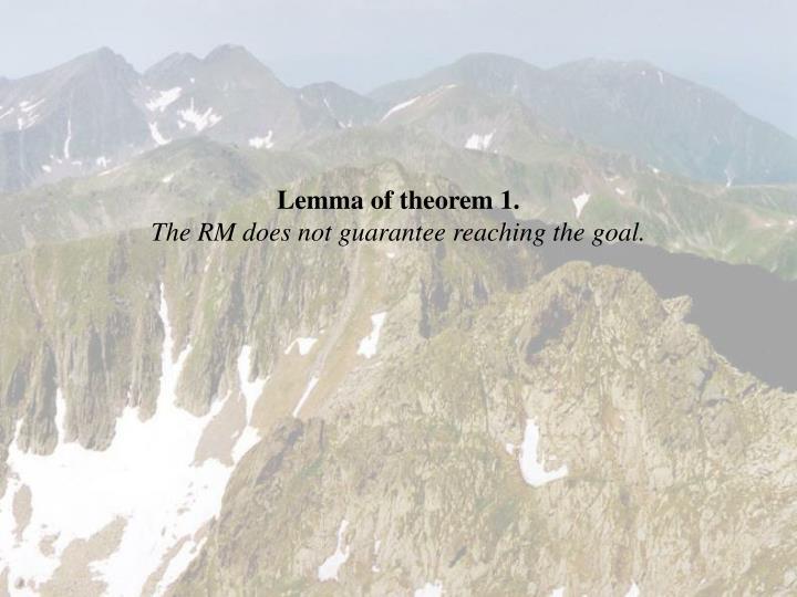 Lemma of theorem 1.