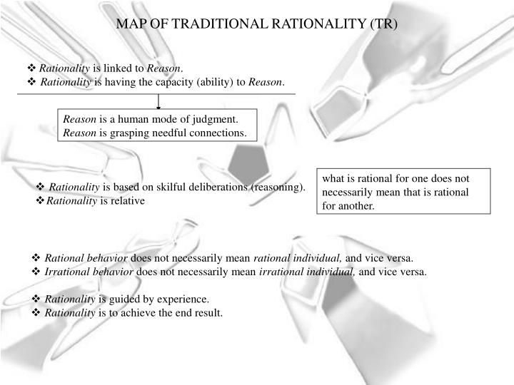 MAP OF TRADITIONAL RATIONALITY (TR)