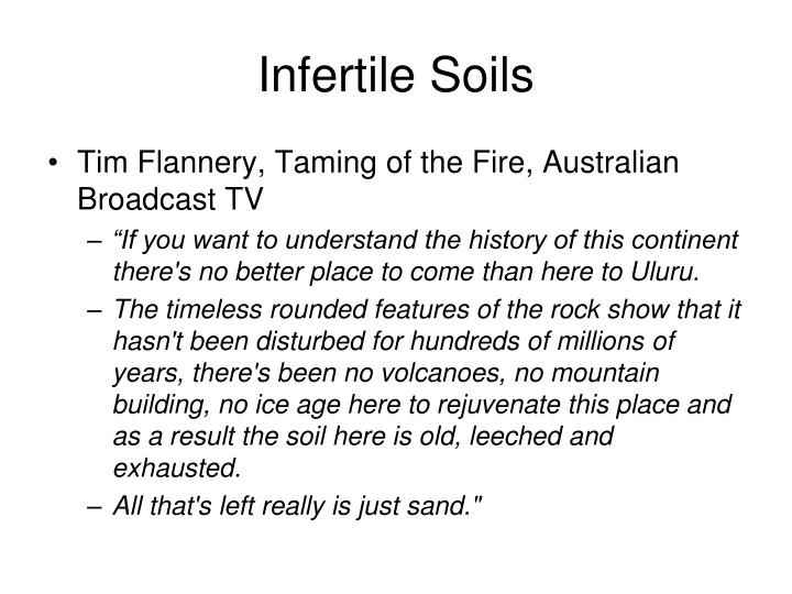 Infertile Soils