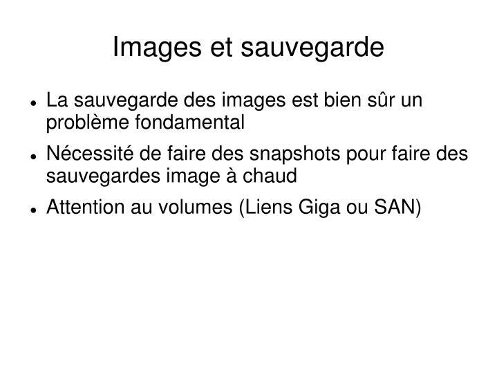 Images et sauvegarde