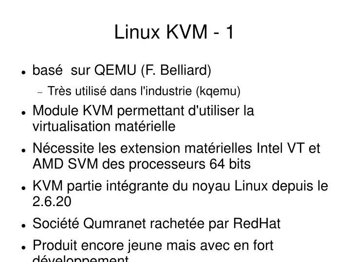 Linux KVM - 1