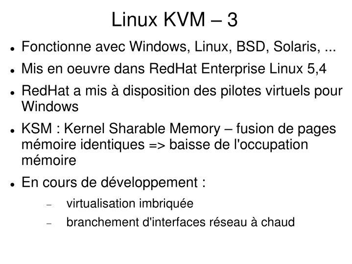 Linux KVM – 3