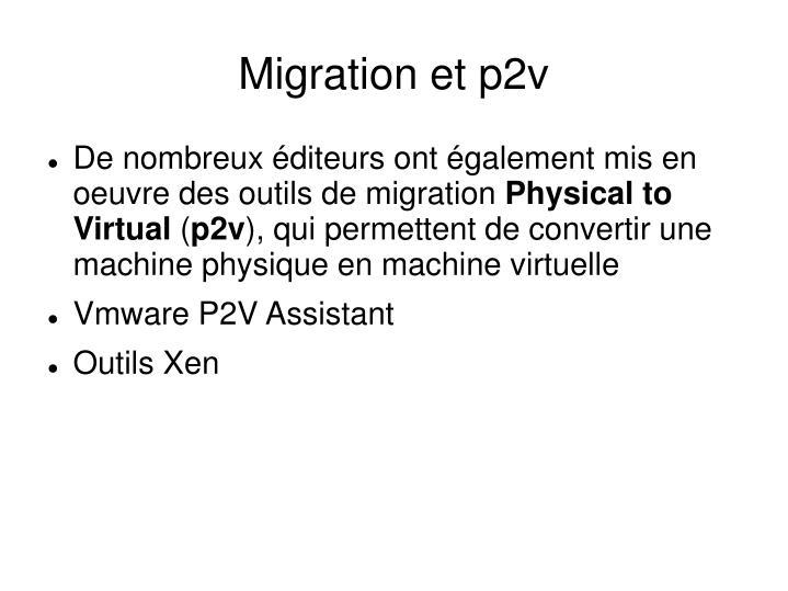Migration et p2v