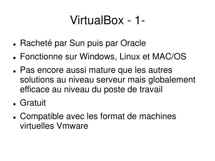 VirtualBox - 1-