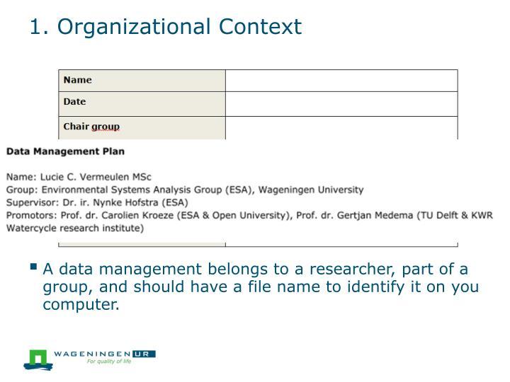 1. Organizational Context