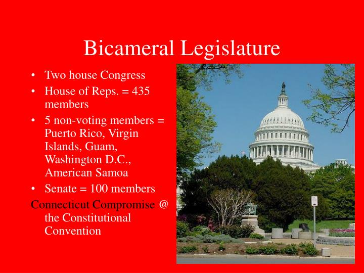 What is a bicameral legislature