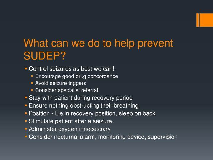 What can we do to help prevent SUDEP?