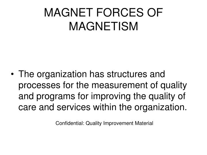 MAGNET FORCES OF MAGNETISM