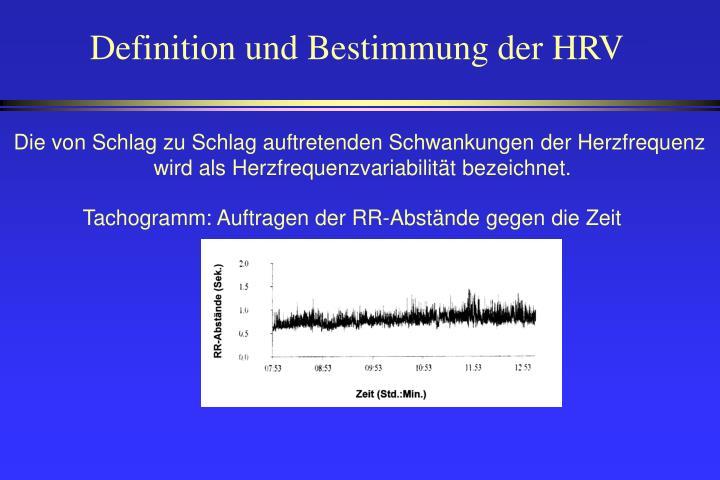 Definition und Bestimmung der HRV