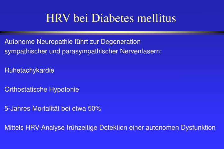 HRV bei Diabetes mellitus