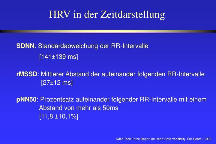 HRV in der Zeitdarstellung