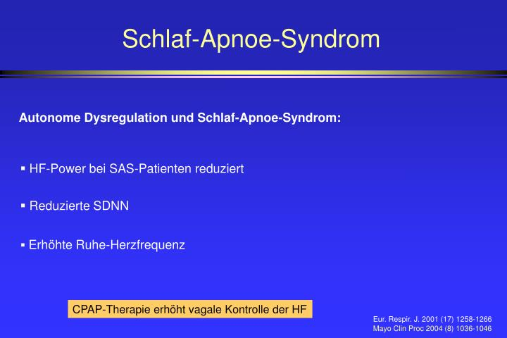 Schlaf-Apnoe-Syndrom