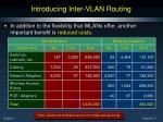 introducing inter vlan routing