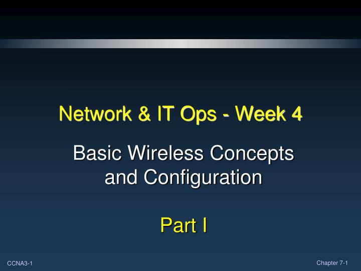 Network it ops week 4
