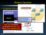 wireless operation