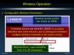 wireless operation1