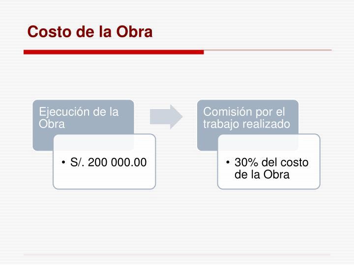 Costo de la Obra