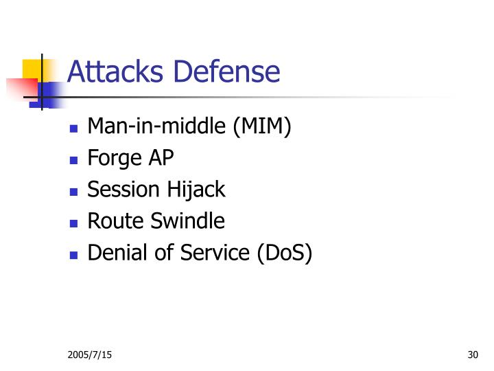 Attacks Defense
