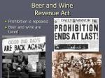 beer and wine revenue act