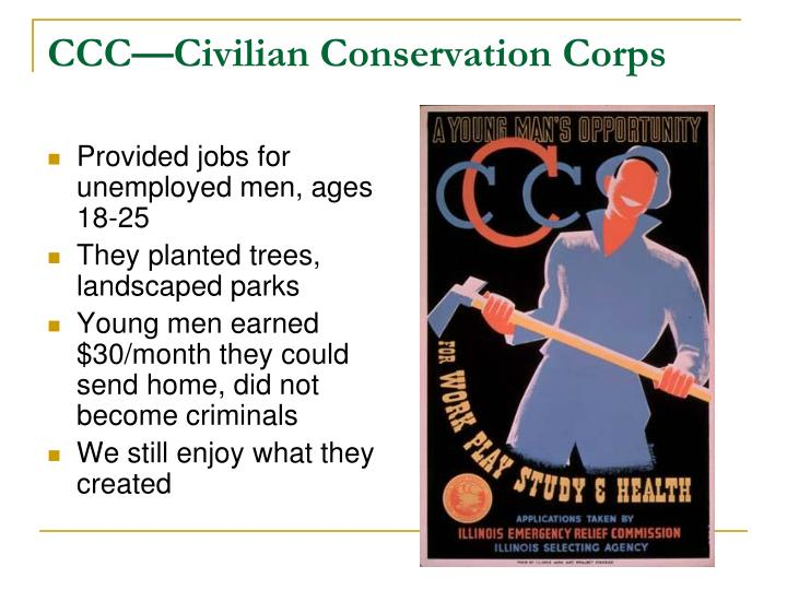 CCC—Civilian Conservation Corps