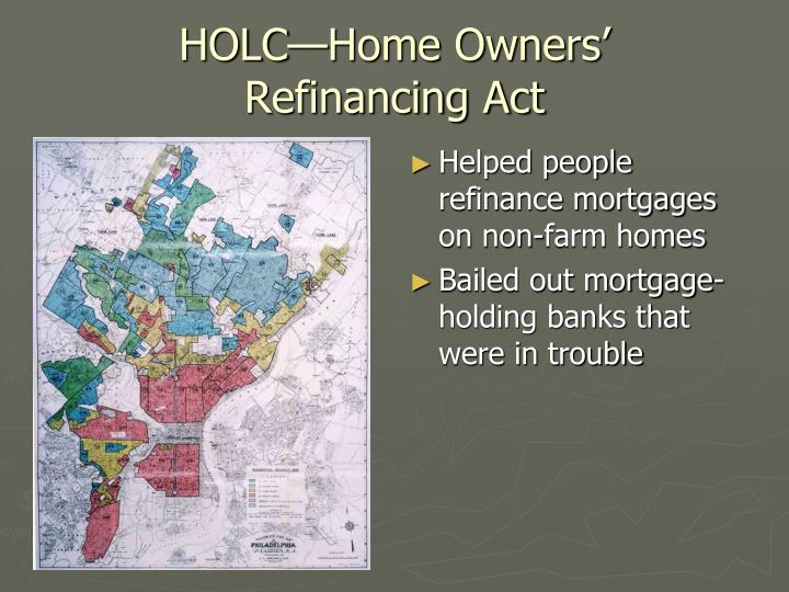 HOLC—Home Owners'
