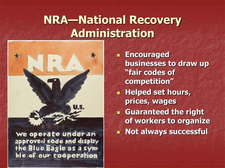 NRA—National Recovery Administration