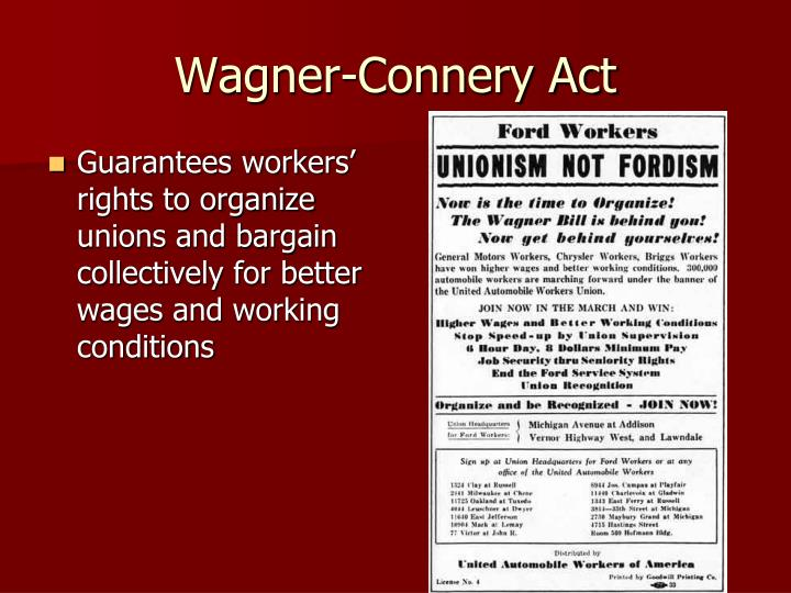 Wagner-Connery Act