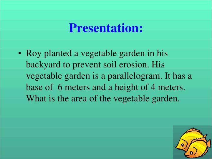 Presentation: