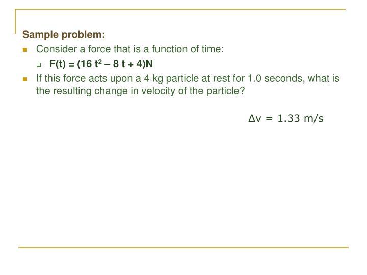 Sample problem: