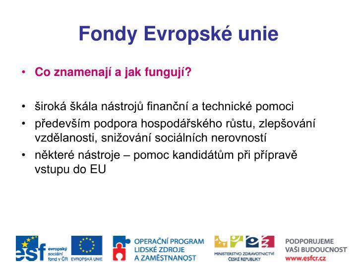 Fondy Evropské unie