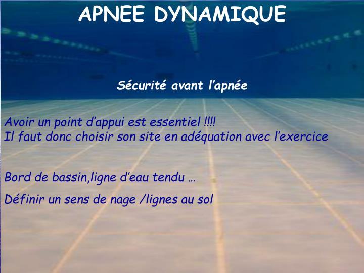 APNEE DYNAMIQUE