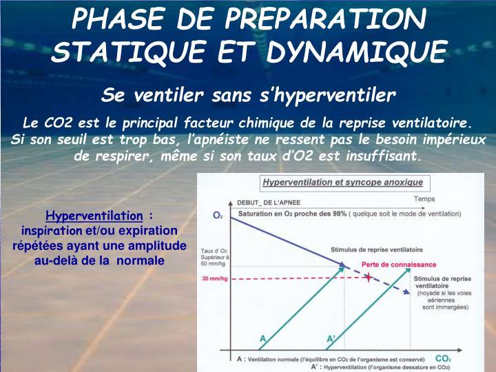 PHASE DE PREPARATION STATIQUE ET DYNAMIQUE