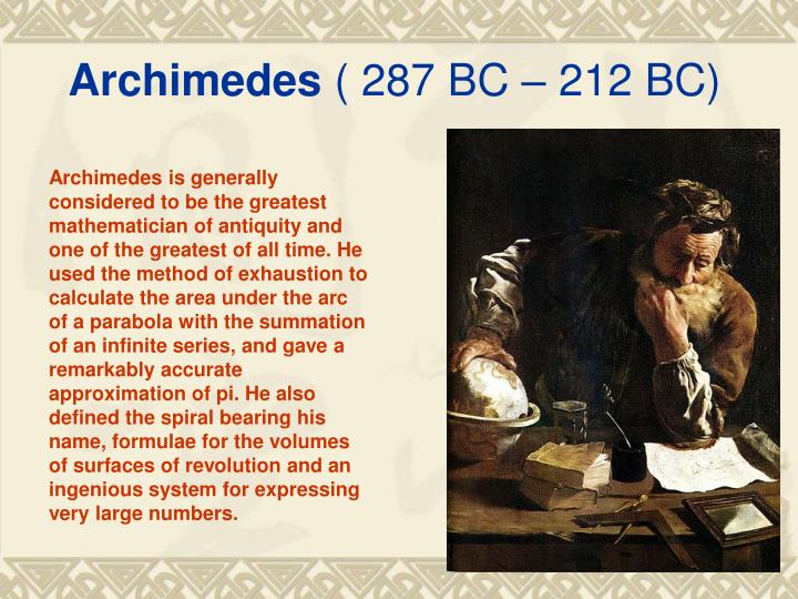 archimedes 287 bc 212 bc Archimedes - wikipedia archimedes.