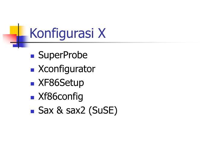 Konfigurasi X