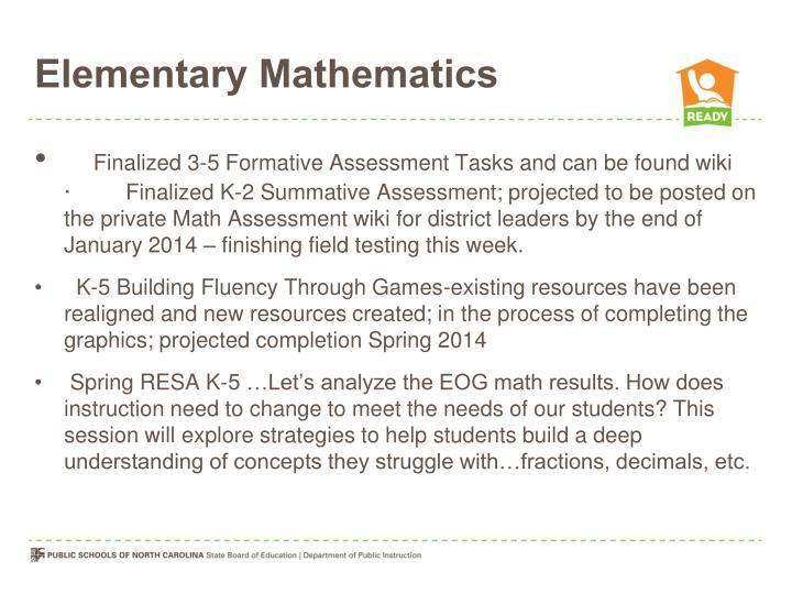 Elementary Mathematics