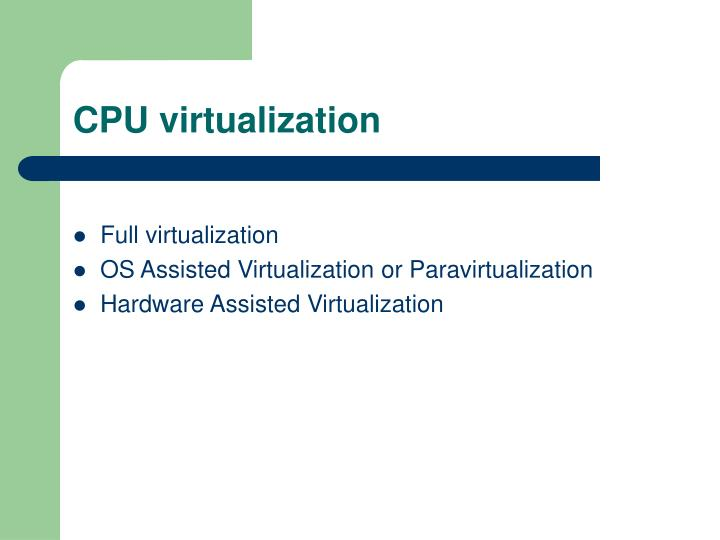 CPU virtualization