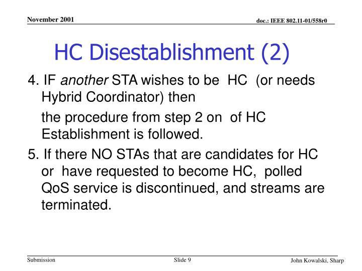 HC Disestablishment (2)