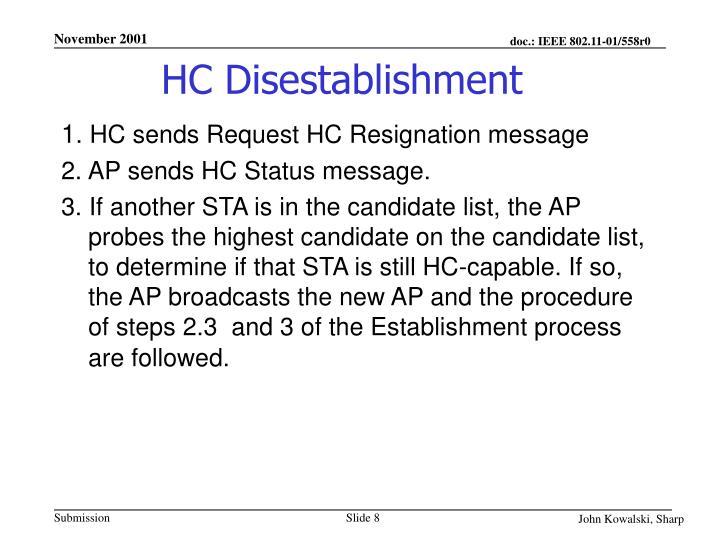 HC Disestablishment