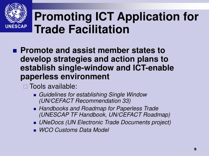 Promoting ICT Application for Trade Facilitation