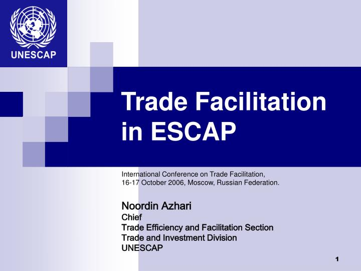 Trade Facilitation in ESCAP