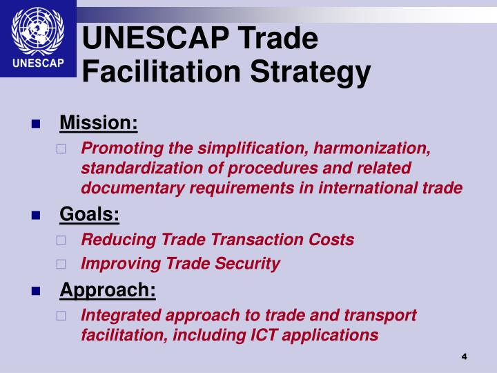 UNESCAP Trade Facilitation Strategy