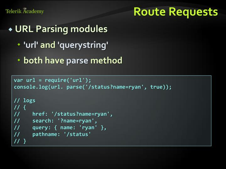 Route Requests