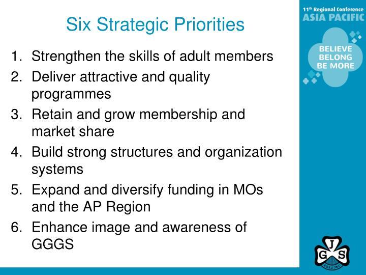 Six Strategic Priorities