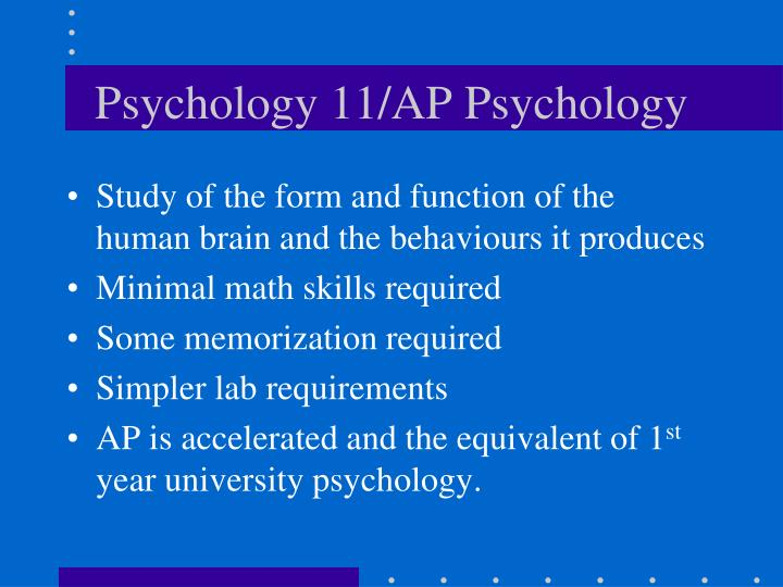Psychology 11/AP Psychology