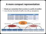 a more compact representation
