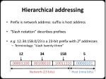 hierarchical addressing1