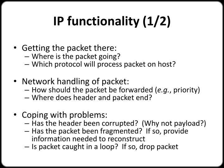 IP functionality (1/2)