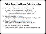 other l ayers address failure modes