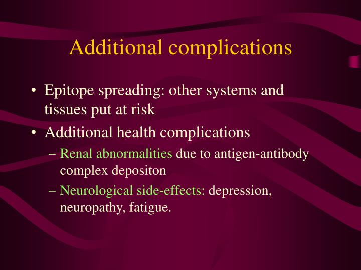 Additional complications