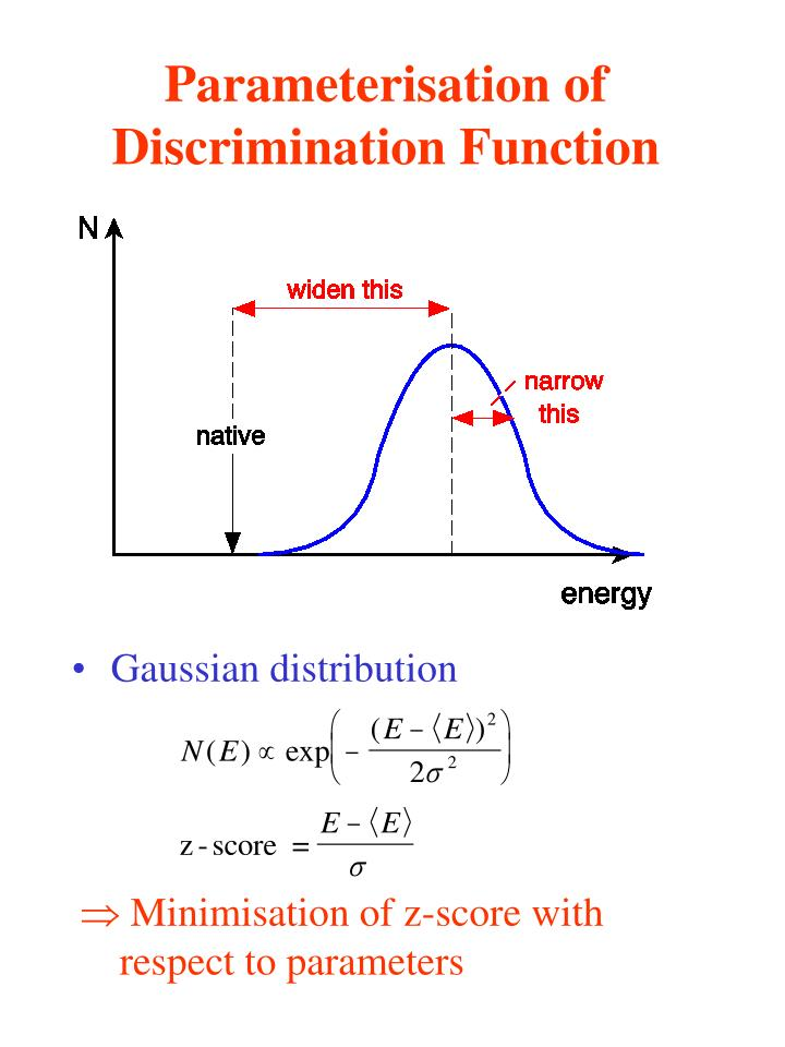 Parameterisation of Discrimination Function